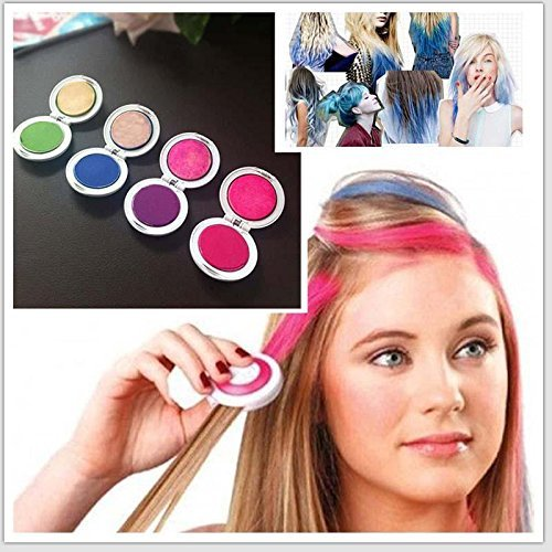 Hot Huez Temporary hair chalk with 4 colors  available at amazon for Rs.358