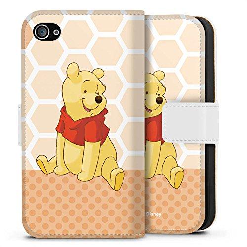 Apple iPhone X Silikon Hülle Case Schutzhülle Disney Winnie Puuh Merchandise Zubehör Sideflip Tasche weiß