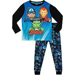Marvel Pijamas de Manga Larga para niños Avengers Multicolor 3-4 Años