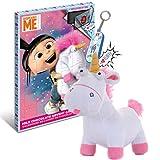 JuniorToys Minions Einhorn Adventskalender mit Sound Schlüsselanhänger und Fluffy Unicorn aus Plüsch