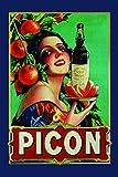Picon sexy frau schild auch blech, metal sign, deko schild,