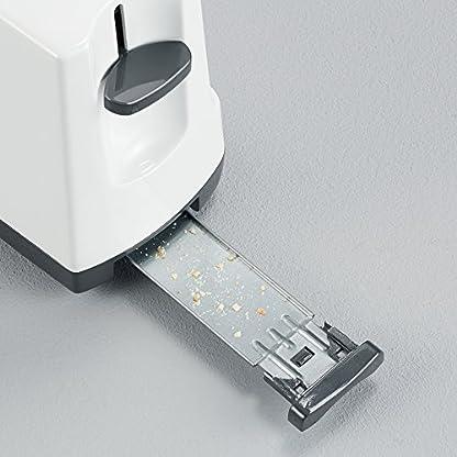 SEVERIN-Automatik-Toaster-2-Langschlitzkammern-Fr-bis-zu-4-Brotscheiben-1400-W-AT-2234-WeiGrau