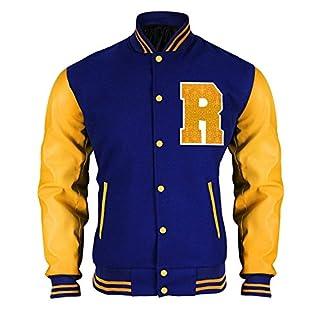 Fashion_First Riverdale Jacket Archie Andrews KJ APA Varsity Letterman R Bomber Leather Jacket (Medium, Multicolour)