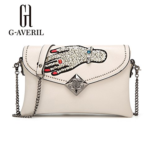 G-AVERIL, Borsa a mano donna Nero Black White