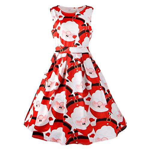 Vestido Estampado De Navidad para Mujer Pin Up Swing Vintage De...