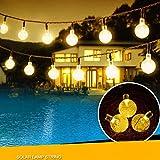 TurnRaise Guirnaldas Luces Navidad 30 LED 6 Metros Luminosas Blanco Cálido Bolas de Cristal Cadena de Bombillas Para Decoración de Navidad, Jardín, Patio, Fiesta, Dormitorio, Reunión Familiar (blanco cálido)