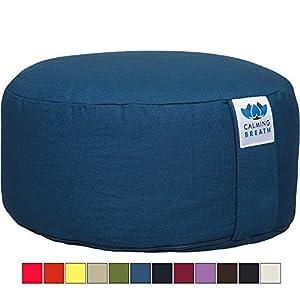 CalmingBreath Yoga Meditationskissen / Yogakissen – Bezug waschbar - Einheitsgröße