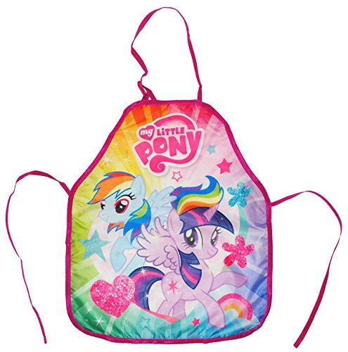 alles-meine.de GmbH My Little Pony  - Kinderschürze - größenverstellbar - Schürze / beschichtet - Mädchenschürze - für Mädchen - Kinder - Backschürze / Bastelschürze / Gartens.. - Meine Rosa Schürze