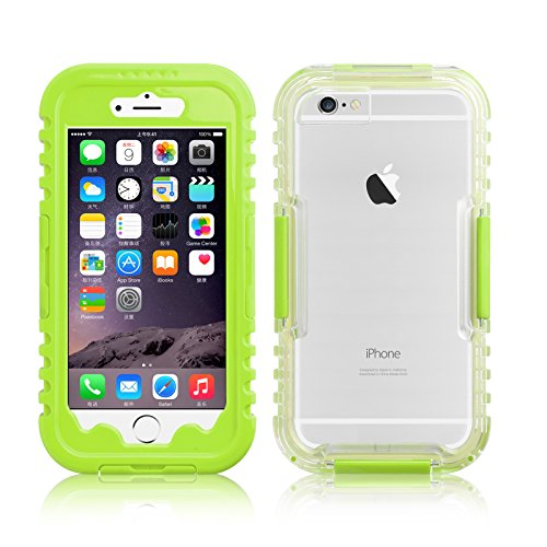 JAMMYLIZARD | Cover custodia SALAMANDER Impermeabile Waterproof per iPhone 6 e 6s, VERDE