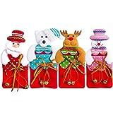 Boodtag Weihnachten Bestecktaschen Geschirrhalter Besteckhalter 4pcs Weihnachtsmann Party Weihnachtsgeschenk (4PCS)