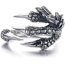 anillo anillo de la garra del dragón del acero inoxidable Anillo salvaje Alondra Hombres (A