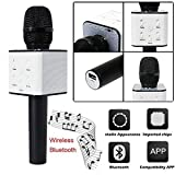 #6: Go Hooked Black Bluetooth Mike / Mike, Portable Handheld Mic / Mike With Speaker (Bluetooth Speaker) With Audio Recording Facility