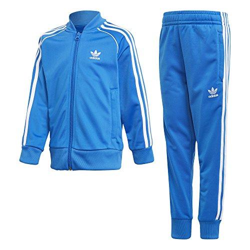 online retailer c7adb bcb8a Scheda Adidas l trf sst - tuta da ginnastica, unisex bambini, blu (blue  bird), 7 8. ulliMateriale 100 PoliestereliliColore Blu.