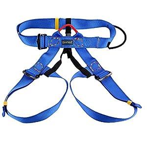 Escalada En Roca Al Aire Libre Del Alpinismo Rapel Arnés Del Cinturón De Seguridad – Azul
