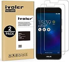 [2 Pack] Asus Zenfone 3 Max ZC520TL Protector de Pantalla, iVoler [0.3mm Dureza 9H] Protector de Pantalla de Vidrio Templado Cristal Protector para Asus Zenfone 3 Max ZC520TL -Dureza de Grado 9H, Espesor 0,30 mm, 2.5D Round Edge-[Ultra-trasparente] [