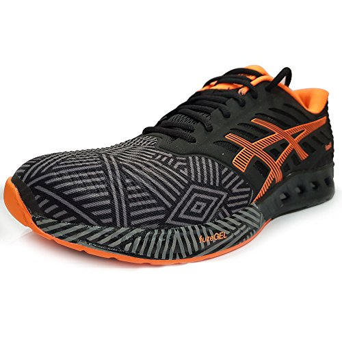 Asics - Asics fuzeX Black White Onyx uomo Black/Orange - 11 UK