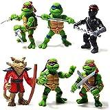 Tortugas Ninja - Teenage Mutant Ninja Turtle - 5 CM - 6 figuras