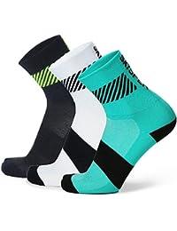 SKYSPER 3 Pares Calcetines de Deporte Deportivos para Hombre Mujer Unisex Bacteriostáticos Casual Zapatilla Antideslizantes Transpirables Medias para Ciclismo Fitness Tenis Correr Uso Diario Yoga