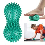 Massageball in Erdnussform, PVC, für Yoga, Fitness, Anti-Stress, für Körper, Hände und Füße