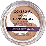 Covergirl Simply Ageless Instant Wrinkle Defying Foundation, 245 Warm Beige, 0.4 Oz (Packaging May Vary)