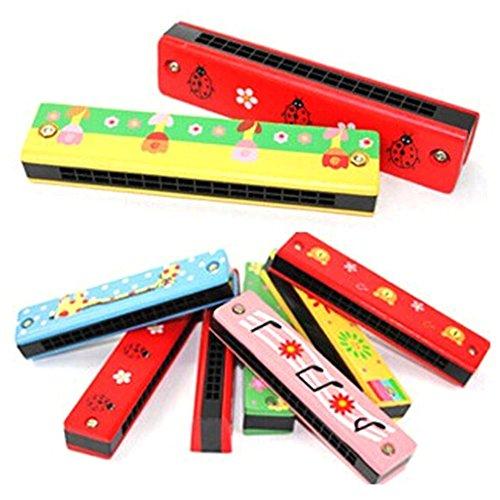 DDG EDMMS Mundharmonika für Kinder aus Holz