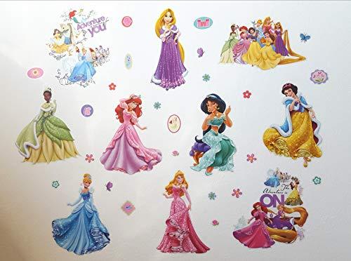 Kibi Princesas Disney Pegatinas De Pared Disney Stickers Infantiles Pared Princesasa De Pared Desprendibles...