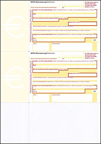 Bits&Paper HU272 - SEPA-Überweisung/Zahlschein, 500 Blatt, A4, bankneutral