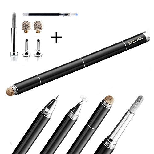 Künstler Pinsel 4 in 1 Stylus Essential für alle Digital Künstler Kapazitive Touchscreen und Tablets wie Apple iPad, iPad Air, iPad Mini, iPhone, Android, Galaxy Tab Stylus Bürste