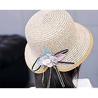 Da. WA verano Otoño moda niñas sombrero de paja playa sol sombrero beige beige