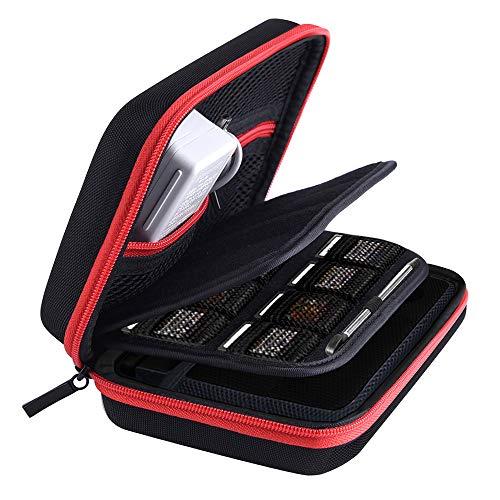 Austor custodia per nintendo 3ds xl nuovo, 3ds, nero / rosso