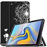 IVSO Hülle für Samsung Galaxy Tab A 10.5 SM-T590/T595, Slim Schutzhülle mit Auto Aufwachen/Schlaf Funktion Perfekt Geeignet für Samsung Galaxy Tab A SM-T590/SM-T595 10.5 Zoll 2018, Midnight Lovers