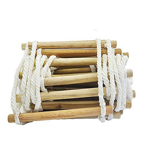 SqsYqz Fluchtleiter Roundwood Agility Ladder Klappbare Rettungsleiter Für Den Außenbereich Mehrzweckumgebung In Großer Höhe (Agility-seile)