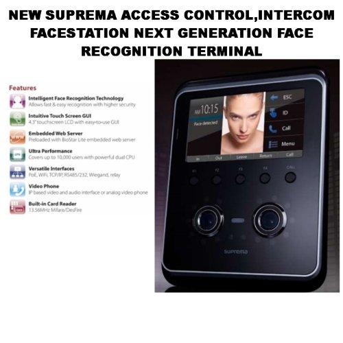 NEW SUPREMA ACCESS CONTROL,INTERCOM FACESTATION NEXT GENERATION FACE RECOGNITION TERMINAL