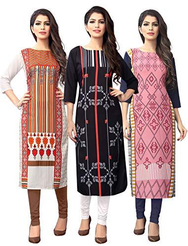 1 Stop Fashion Women's crepe straight Kurta