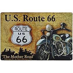 Placas Decorativas Vintage metalicas Ruta 66 Carteles chapas Garaje Pared Route