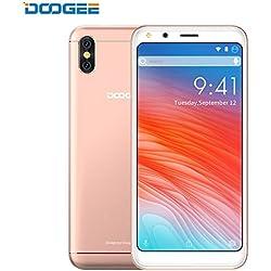 Smartphone Pas Cher, DOOGEE X53 3G Telephone Portable Debloqué, MT6750T Quad Core, 1GB RAM + 16GB ROM, 5MP+5MP Double Caméra Arrière, Téléphone Android 7,0, 2200mAh, Dual SIM (Oro)