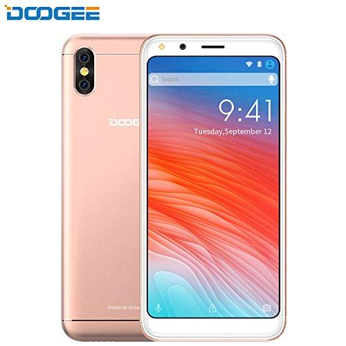 rag, DOOGEE X53 3G Dual Sim Android 7.0 Günstig Handy, 5.3 Zoll FHD MT6750T Processor Smartphones, 1GB RAM + 16GB ROM, Dual 5.0MP Rear Kamera, 2200mAh, Dual Sim (Gold) ()