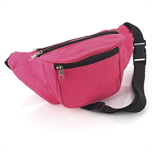 Neon Pink Fabric Bum Bag