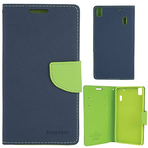 Mercury Goospery Diary Flip Wallet Cover For Lenovo A7000 / K3 Note (Pebble Blue-Green)