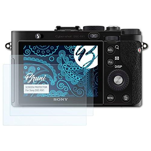 Bruni Schutzfolie kompatibel mit Sony DSC-RX1 Folie, glasklare Displayschutzfolie (2X) (Rx1 Screen Protector)
