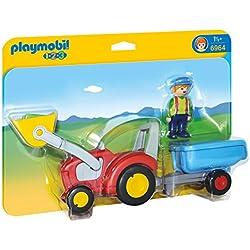 Playmobil 1.2.3 - 1.2.3 Tractor con Remolque (6964)