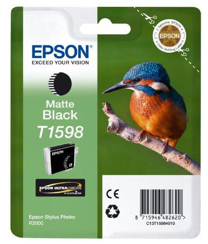 Epson C13T15984010 Cart. Inkjet Ink Pigmentato Blister RS Martin Pescatore, Taglia XL, Nero Opaco