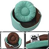 #5: Comfy-German Fleece Fabric HQ Foam Filled Dual Side Reversible Dog/Cat Bed-L (26x9x2