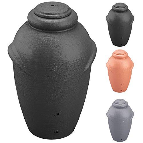 Regenwassertonne Regentonne Wassertank Regentank Amphore 360 Liter mit Deckel (Anthrazit)