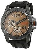 Reloj Cuarzo Boss para Hombre con Marrón Analogico Y Negro Silicona 1513422
