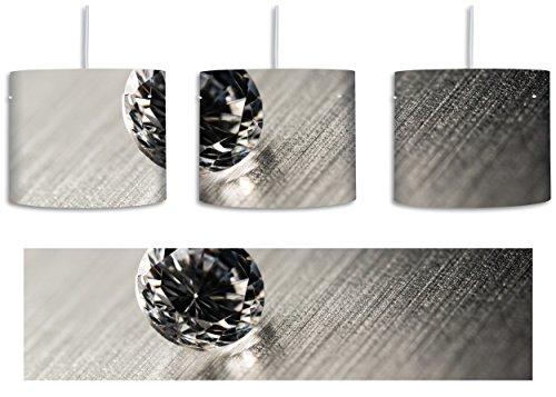 Beleuchtung Reiner Diamant (kleiner reiner Diamant inkl. Lampenfassung E27, Lampe mit Motivdruck, tolle Deckenlampe, Hängelampe, Pendelleuchte - Durchmesser 30cm - Dekoration mit Licht ideal für Wohnzimmer, Kinderzimmer, Schlafzimmer)