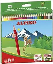 Lapices de Colores Alpino - Estuche de lápices de madera 24 unidades - Lapices para Niños y Adultos - Forma He