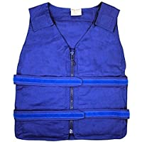 Lightweight Kool Max?Zipper Front Vest (S/M, Blue) by Polar Products preisvergleich bei billige-tabletten.eu