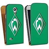 Samsung Galaxy S4 mini Tasche Schutz Hülle Walletcase Bookstyle Werder Bremen Fanartikel Fussball