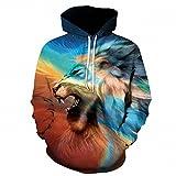 New 3D felpa hoodie Mens Lion stampato Moda Uomo Hoodies sudore Homme Hip Hop Harajuku uomini felpe con cappuccio e felpe 6XL LMS012 XXL
